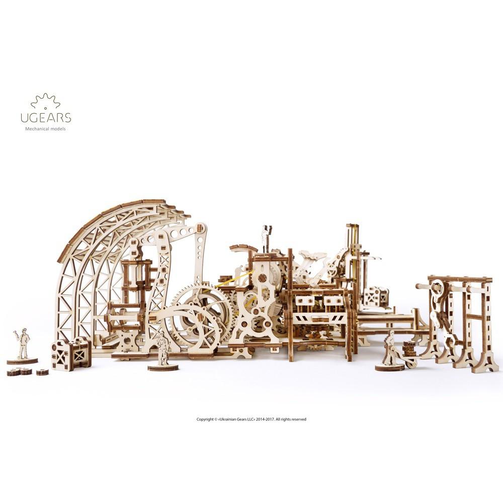 UGEARS Механический 3D пазл Фабрика роботов (598 деталей)
