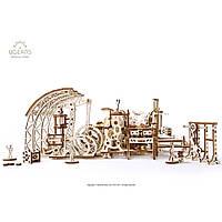 UGEARS Механический 3D пазл Фабрика роботов (598 деталей), фото 1