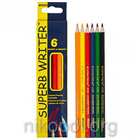 Набор цветных карандашей MARCO Superb Writer 4100-6CB, 6 цветов