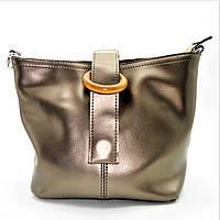 Привлекательная женская сумочка из кожи бронзового цвета на плечо RRN-600676, фото 1