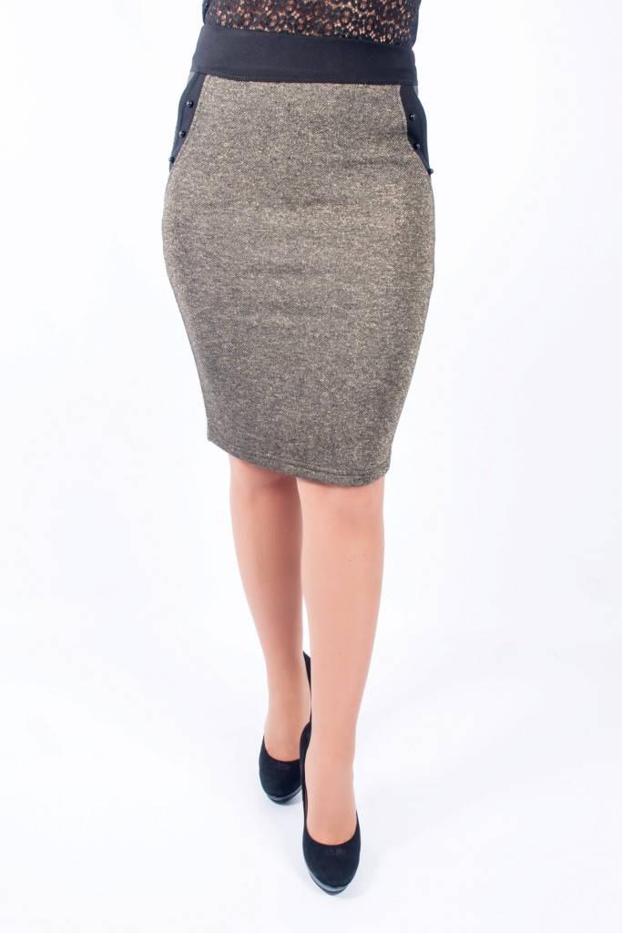Женская юбка Сара золотая