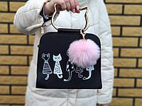 Брелок помпон меховой, Меховые брелки, меховой брелок - помпон на сумку Розовый