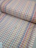 Ткань льняная для полотенец ш.50  Клетка светлая