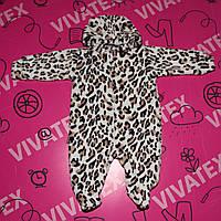 Комбинезон для малышей Леопард махра рваная