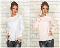 Модная женская блузка со вставками из кружева / Украина / ликра