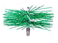 Щетка ершик для чистки дымохода ф250 пластиковая под резьбу, фото 1