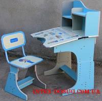 Детская парта со стульчиком трансформер Bambi HB 2071-04 (стол-парта-растишка, 5 положений) КИЕВ, фото 1
