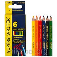Набор цветных карандашей MARCO Superb Writer 4100Н-6CB, 6 цветов, короткие