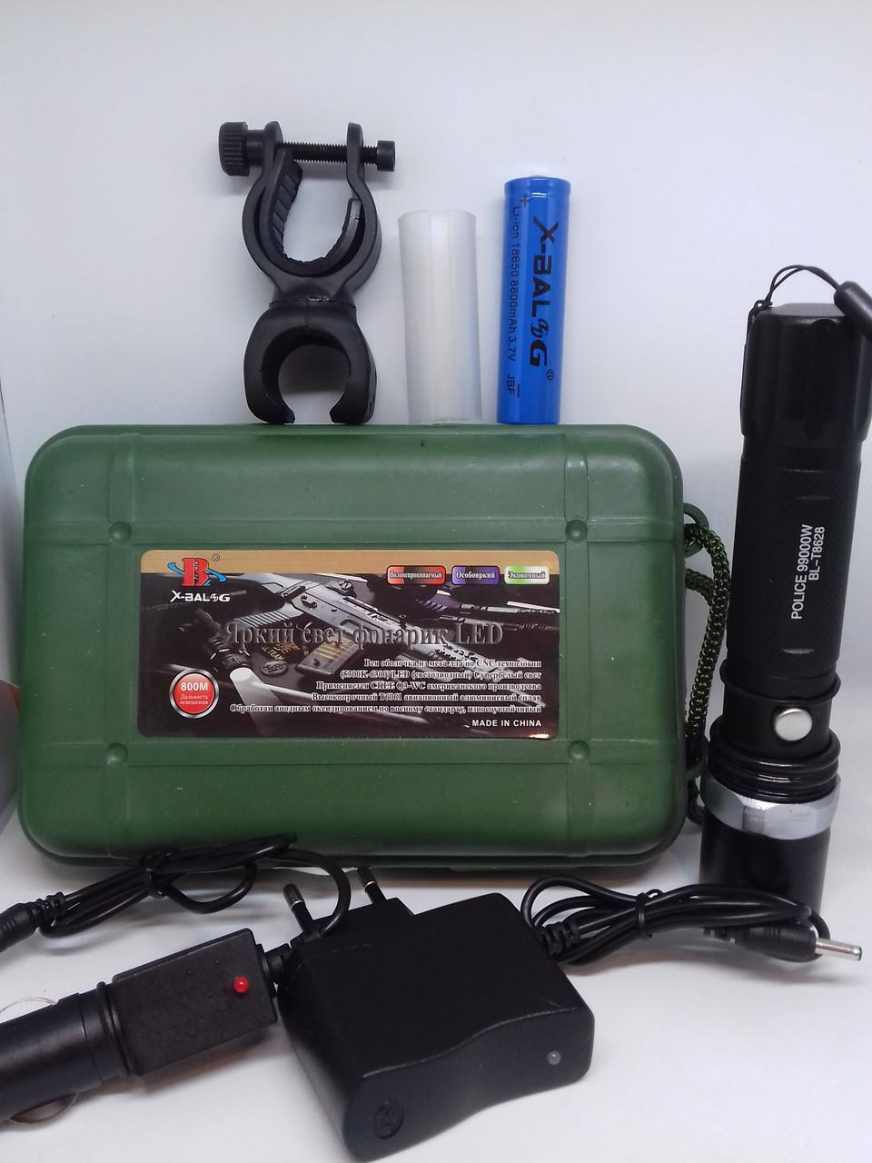 Фонарь Bailong BL-8628 XPE ручной тактический на аккумуляторе типа 18650