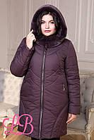 Женская зимняя удлиненная куртка  с искусственным мехом, в расцветках, р-р 50-60