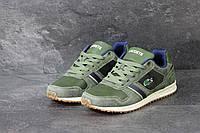 Кроссовки Lacoste мужские (темно-зеленые), ТОП-реплика, фото 1