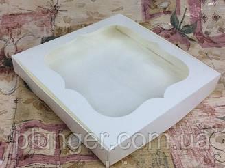 Коробка для печенья, пряников, с окном, 20 см х 20 см х 3 см, мелованный картон