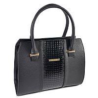 Женская сумка с питоновой вставкой М62-47/14 gold