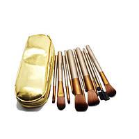 Набор кистей для макияжа в золотом чехле Naked2