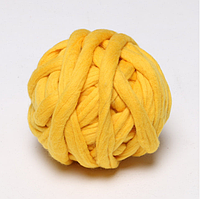 Толстая пряжа 2,5 см желтая