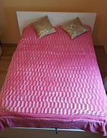 Покрывало из искуственного меха (200х230) Норка5  (розовое)