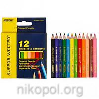 Набор цветных карандашей MARCO Superb Writer 4100H-12CB, 12 цветов, короткие
