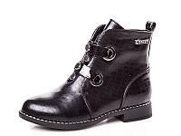 Новая коллекция демисезонных ботинок для девочек оптом 18190-6 (8 пар, 33-38)