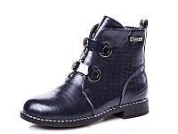 Новая коллекция демисезонных ботинок для девочек оптом 18190-7 (8 пар, 33-38)
