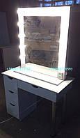 Стол для макияжа с мобильным зеркалом. Модель V94 белый, фото 1