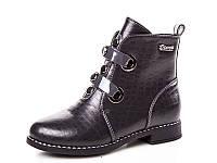 Новая коллекция демисезонных ботинок для девочек оптом 18190-9 (8 пар, 33-38)