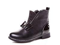 Новая коллекция демисезонных ботинок для девочек оптом 18195-6 (8 пар, 33-38)