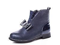 Новая коллекция демисезонных ботинок для девочек оптом 18195-7 (8 пар, 33-38)