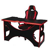 Игровой комплект кресло и стол Barsky Homework Red HG-05 LED/ПК-01/SD-02