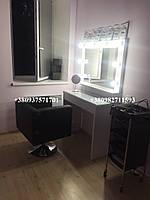 Стол для макияжа с навесным зеркалом. Модель V97 белый