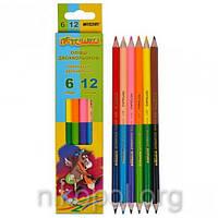 Набор цветных карандашей MARCO Пегашка 1011-6CB, 12 цветов