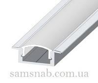 Профиль алюминиевый встраиваемый светодиодный ЛПВ7 для подсветки LED (эконом)