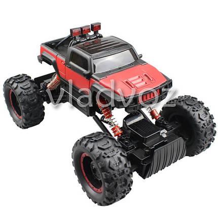 Джип машинка на радио управлении Rock Crawler красный Hummer 1:14, фото 2