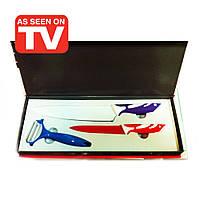 Мини-набор ножей с цветным антипригарным керамическим покрытием из 3 предметов