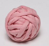 Толстая пряжа 2,5 см розовая