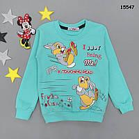 """Теплая кофта """"Кролики"""" для девочки. 6, 7 лет, фото 1"""
