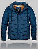 Мужская Зимняя куртка BLACK VINYL 4532 Синяя