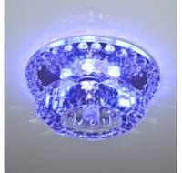 Светильник Feron JD125 JСВ9(прозрачный) c LED подсветкой RGB 2.5W
