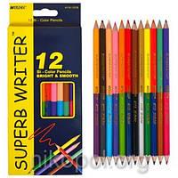 Набор цветных карандашей MARCO Superb Writer 4110-12CB, 24 цвета