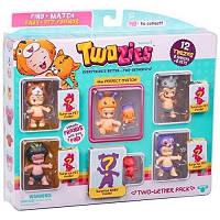 Набор фигурок Twozies  S1 - 12 Забавных малышей (6 малышей, 6 питомцев)