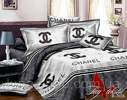 Постельный комплект  с брендовым логотипом2- цветн. из бязи: полуторный, двуспальный, евро, семейный