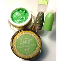 3D Emboss Gel CANNI 006 (салатовая) гель-паста