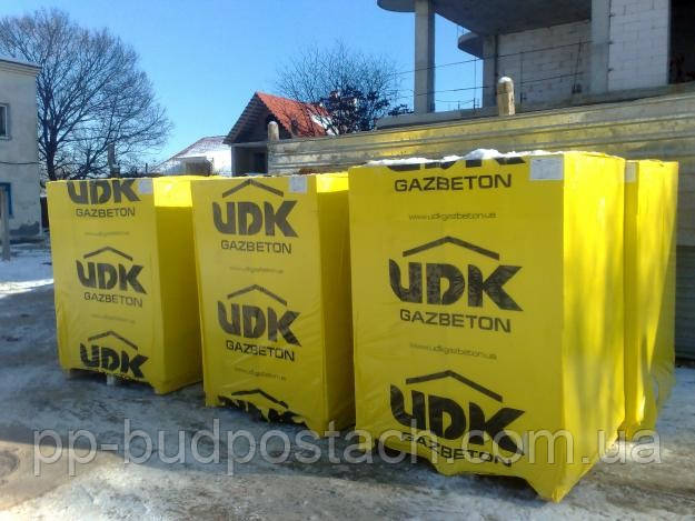 Газобетон, газоблок UDK, ЮДК Super-Block 400 - ПП Будпостач: газобетон и газоблок по оптовой цене в Киеве
