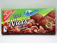 Шоколад молочный с фундуком Edel Nuss 200г, фото 1