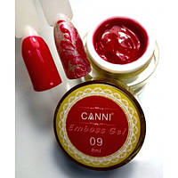 3D Emboss Gel CANNI 009 (красная) гель-паста