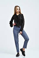 Брюки женские, цвет: джинс, размер: 48