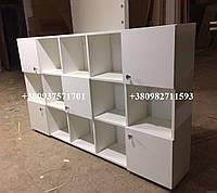 Навесной шкафчик с открытыми и закрытыми секциями,  Модель V111 белый, фото 1