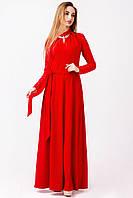 Длинное платье макси цвет: Красный, размер: 42