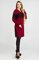 Туника женская, цвет: бордовый, размер: 42, 44, 46, 48