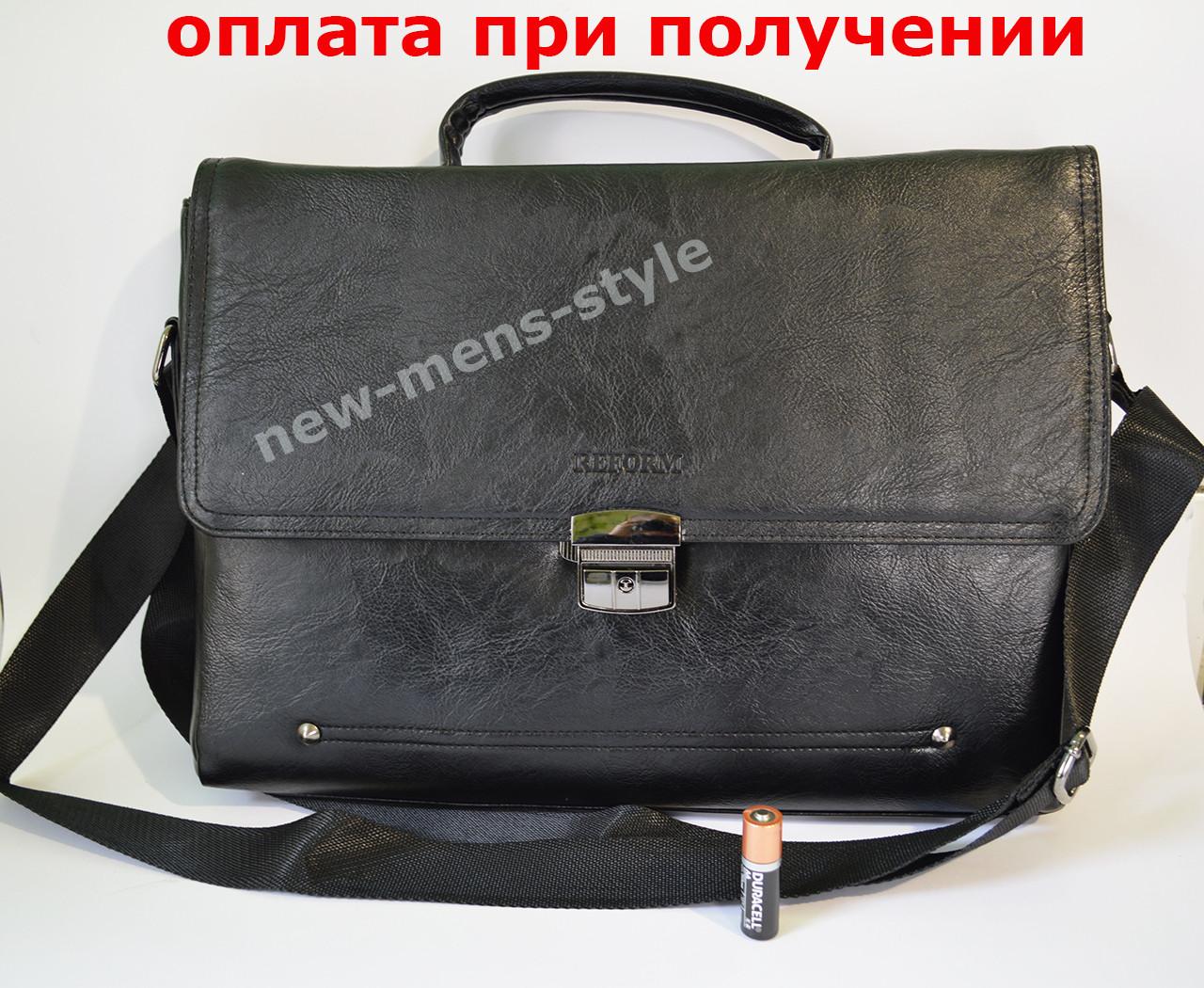 9d09347a4caf Мужская кожаная брендовая сумка через плечо для документов портфель А4 -