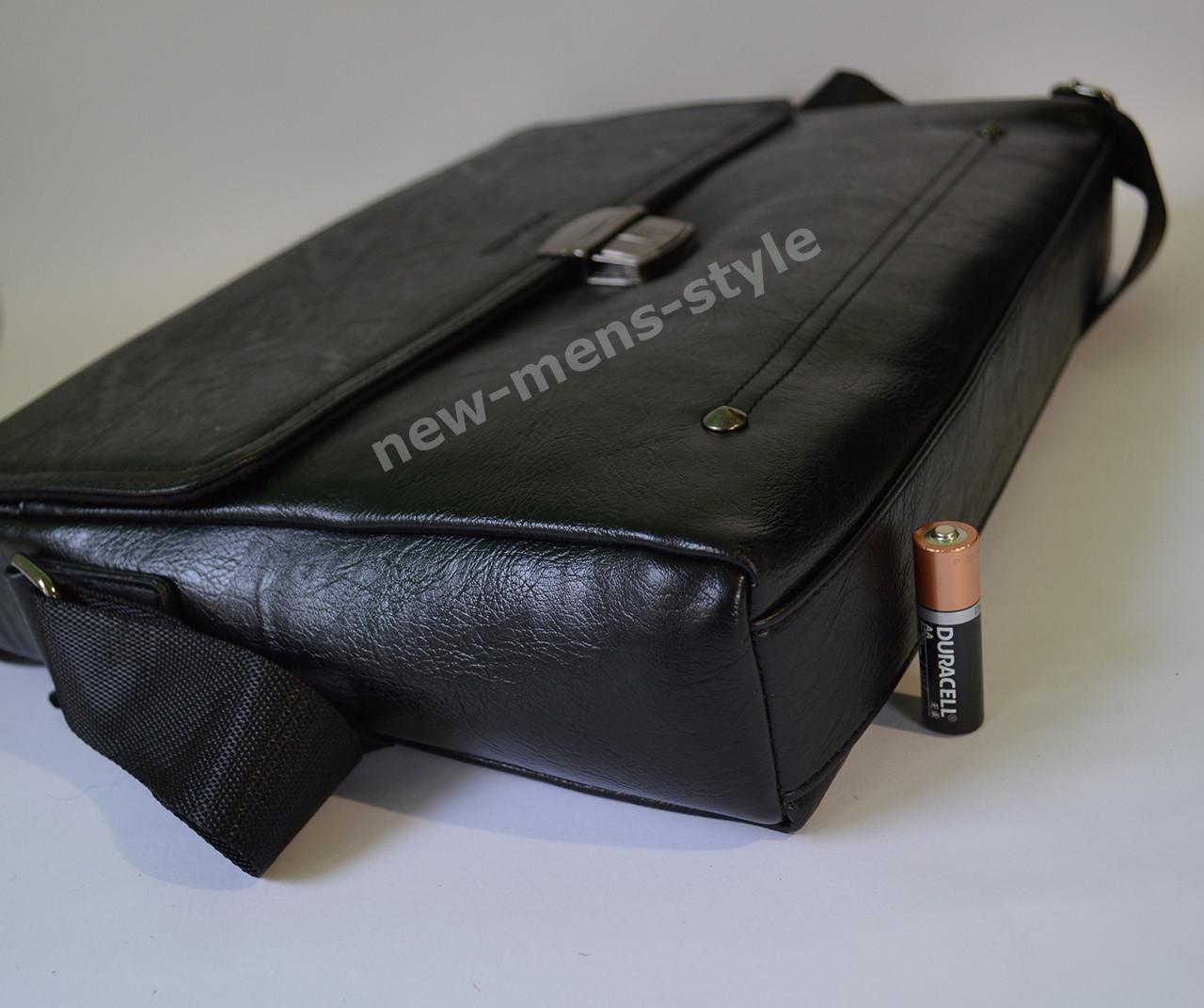 ce44c7840c11 ... Мужская кожаная брендовая сумка через плечо для документов портфель А4  4 ...